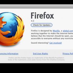 Aggiornamento per Firefox 4 (RC1)