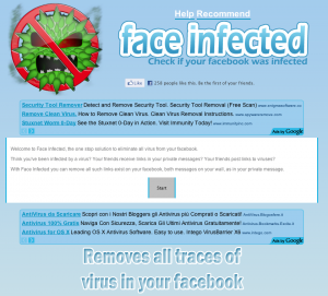 Face infected