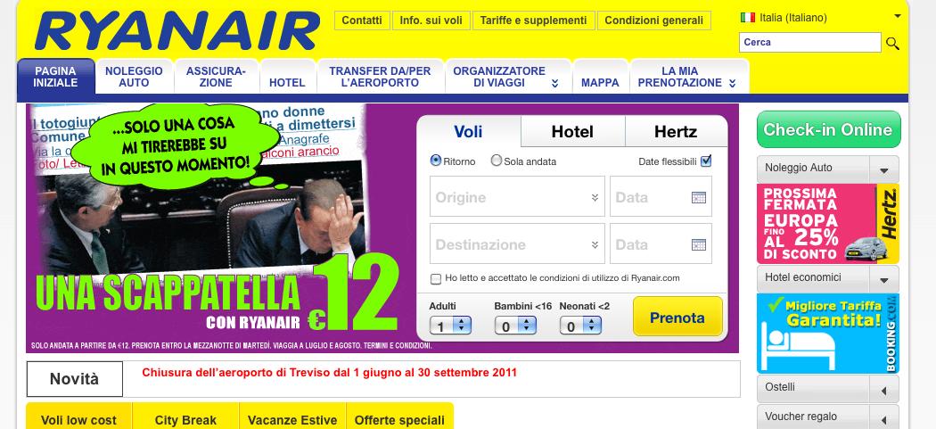 Ryanair berlusconi