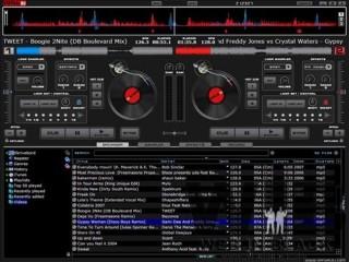 l'interfaccia di virtual dj