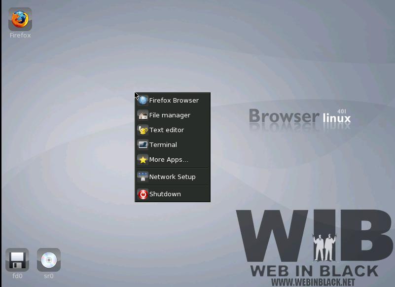 il desktop di browser linux