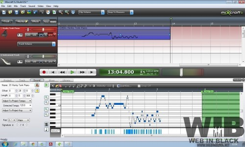 editingmidi 500x300 Mixcraft. Davvero un clone di Garage Band per Windows?