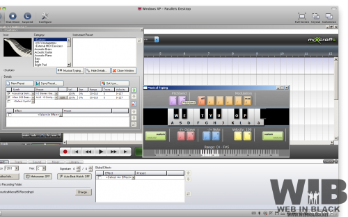 midi e tastiera1 500x312 Mixcraft. Davvero un clone di Garage Band per Windows?