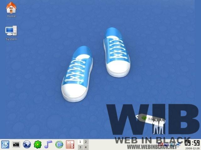 il desktop di Slax