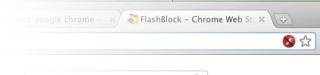 l'icona che appare dopo l'installazione di flashblock