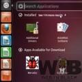 Dash Home e il link alle applicazioni installate