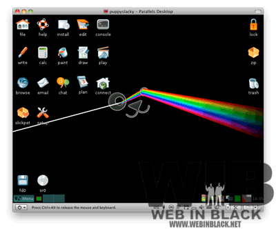 il desktop di Slacko Puppy