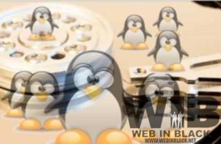 l'interno di un hard disk popolato di pinguini