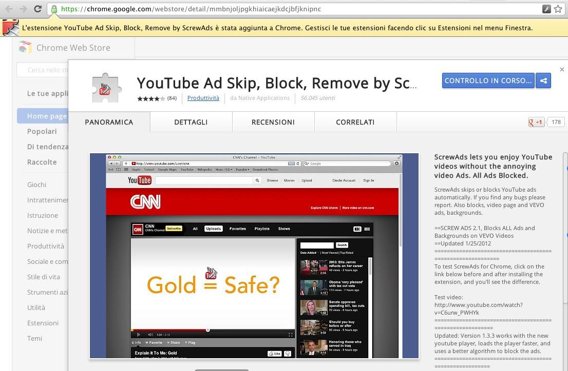 youtube screwer su chrome web store