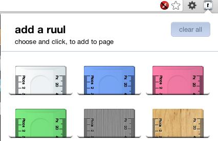 alcuni dei colori disponibili per il ruul