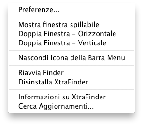 in menu i xtrafinder