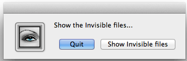 show hide invisible files