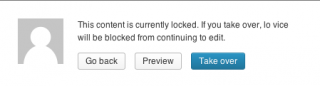 WP post-locking warning