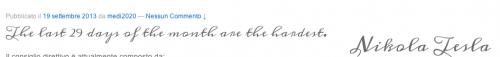 il nostro risultato con google font calligrafico