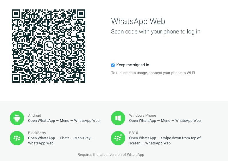 whatsapp computer web app