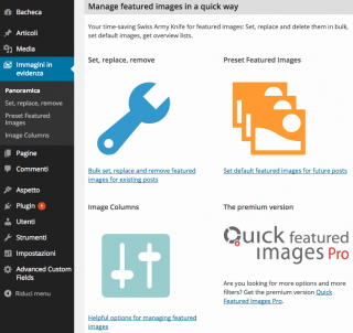 quick featured image panel
