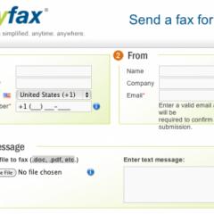 Invia fax online con MyFax