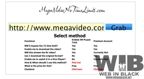 MegaVideo senza limiti di tempo, con MegaVideoNotimeLimit
