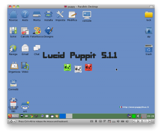 il desktop di puppy linux