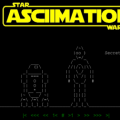 Curiosità: Star Wars in ASCII
