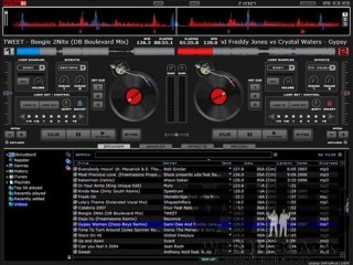 l'interfaccia di virtual dj
