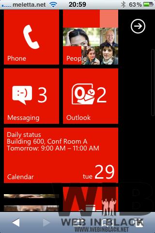 Prova Windows Phone 7.5 online, con HTML5