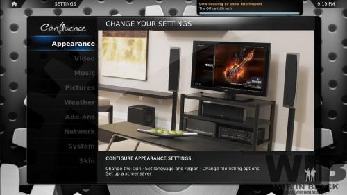 l'interfaccia di GeexBox