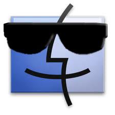 il logo del finder con degli occhiali scuri
