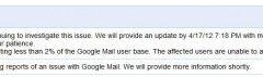 Gmail down: panico nel web