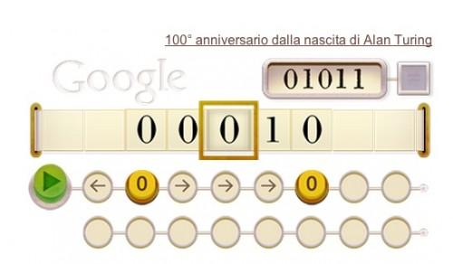 il doodle che Google ha dedicato ad Alan Turing