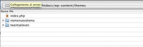 La struttura della directory dei temi