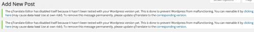 la schermata d'errore di qtranslate