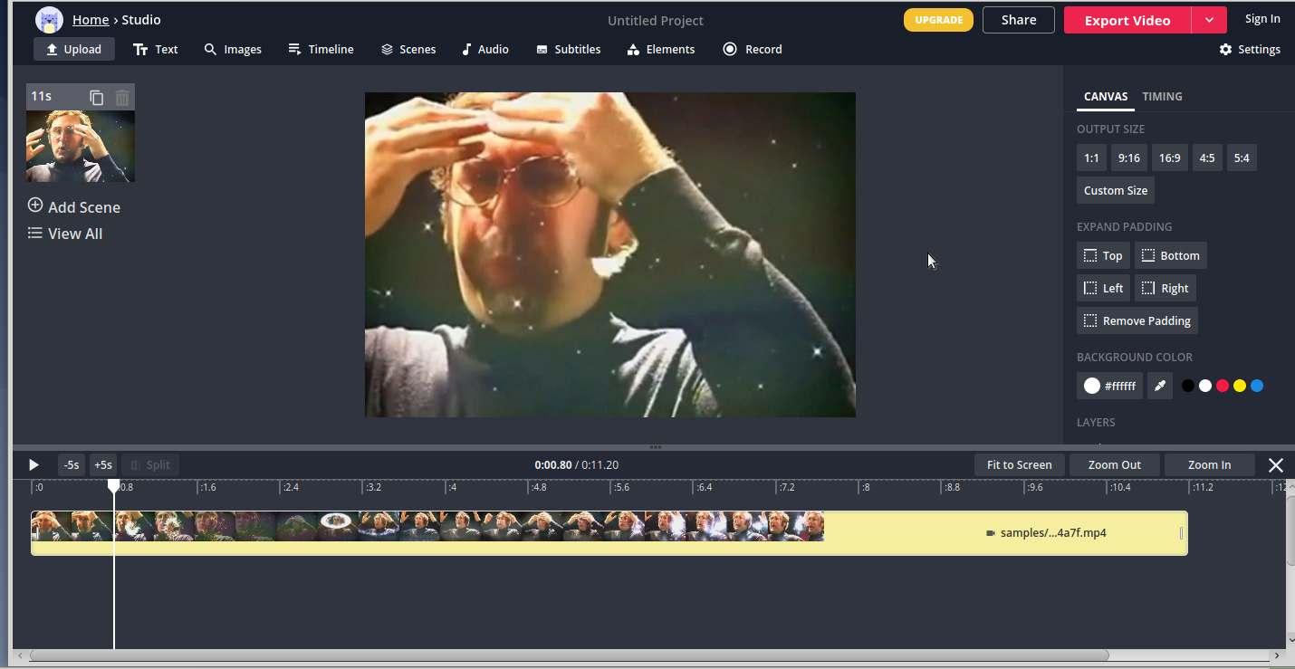 kapwing schermata di esempio